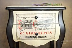 French Perfume Side Table - Reader Featured Project - The Graphics Fairy