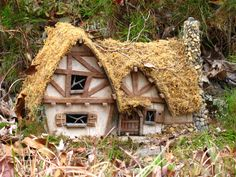 Fairy House - LOVE this style!  ********************************************    (repin) - #fairy #garden #gardens #miniature #miniatures #fairies #whimsical #whimsy #house - ≈√