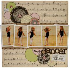 dancer scrapbook layout