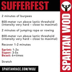 Spartan Training Routine/ Crossfit style workout – Running Spartan Sprint, Spartan Race Training, Spartan Workout, Crossfit Wods, Circuit Training, Rowing Wod, Spartan Trifecta, Obstacle Course Training, Tough Mudder