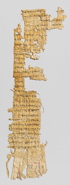 Papyrus fragment with lines from Homer's Odyssey, Early Hellenistic, 285–250 B.C. Greek, Ptolemaic Gift of Egypt Exploration Fund, 1909 (09.182.50)