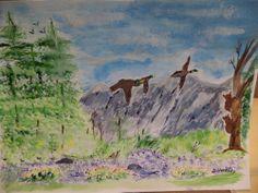Nature Scene Watercolor Painting #Art #Sale
