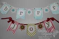 DIY Banners created with Stampin' Up! Banner SImply Created Kit!  Super easy and fun!