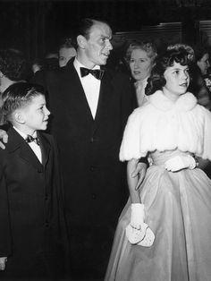 Frank Sinatra avec son fils, Frank Jr., et sa fille, Nancy