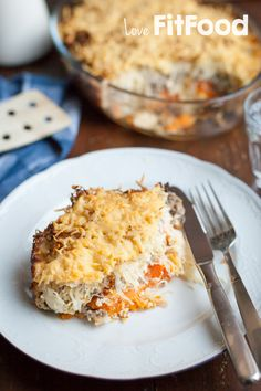 Zuurkoolschotel met gehakt en wintergroenten Food Crafts, Lasagna, Paleo, Ethnic Recipes, Beach Wrap, Lasagne, Paleo Food