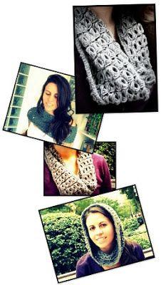 Cuello Bufanda a Crochet, Punto Escoba - Ahuyama Crochet