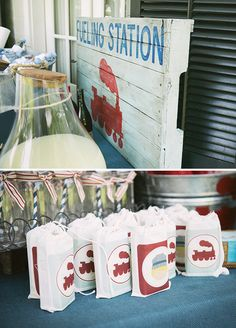 Vintage Train Birthday Party {Red, Blue & Choo Choo!}