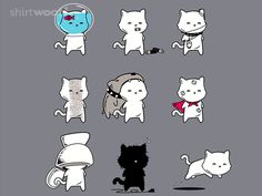 Various Examples of the Nine Lives of Cats