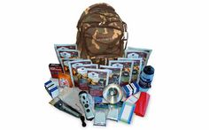 2 week essential survival product and food kit for 1 person or 1 week for 2 people.   • Packages of Pocket Tissue (6) • 4-in-1 Dynamo Flashlight (1) • Deck of Playing Cards (1) • Water Proof Matches (50) • Waste Bags (2) • Note Pad (1) • Golf Pencil (1) • Mylar Sleeping Bags (2) • Leather Palm Work Gloves (1) • 36 Piece Bandage Kit (1) • Water Filtration Bottle (1) • Portable Stove (1) • Stove Fuel Tablets (16) • Metal Fork (1) • Knife and Spoon (1) • Sierra Cup (1) Wise 44 servings food