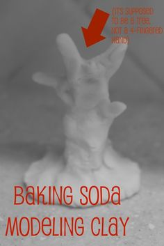 DIY:: modeling clay..baking soda, cornstarch, water