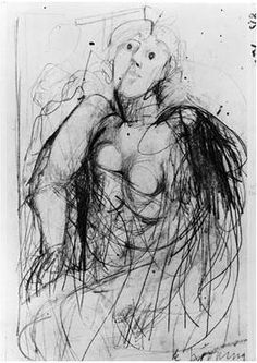 Willem de Kooning,  /Seated Woman, ca.1941, pencil on paper, 7 x 5 inches. Courtesy of Allan Stone Gallery.