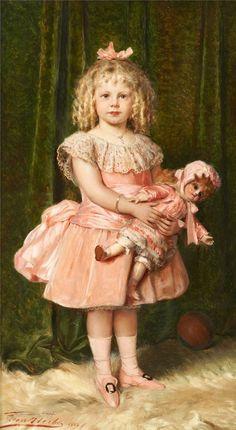 1888 Leon Herbo - Portrait of a girl