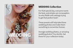 Wedding Lightroom Presets by NUUGraphics on @creativemarket