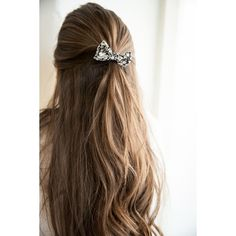 Floral Ribbon Hair Tie ($2) ❤ liked on Polyvore featuring beauty products, haircare, hair styling tools, hair, hair styles, hairstyles, cabelos and black hair care