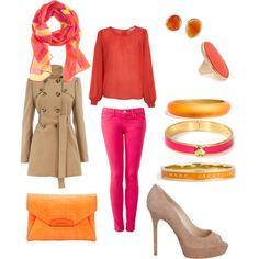 {really different but, I'm kind of into it} Coral.Pink.Orange