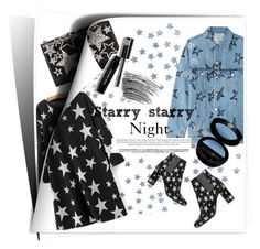 """Starry starry night"" by briesepb ❤ liked on Polyvore featuring Bobbi Brown Cosmetics, WithChic, Être Cécile, Yves Saint Laurent and Giorgio Armani"
