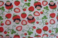 Jersey Hamburger Liebe Strawberry Picking weiß von PinkPeppa auf DaWanda.com