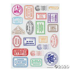 Passport Stamp Sticker Sheets | Oriental Trading