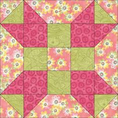 Fool's Square Quilt Block Pattern 5""