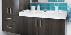 Corail noir Vanité Mélamine Quartz Double Vanity, Bathroom, Recherche Google, Kitchen Armoire, Toilets, Modern, Home, Washroom, Full Bath