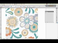 using Adobe Illustrator's Live Trace tool on a full color scan & how to easily create multiple colorways {video tutorial by SewHeidi}