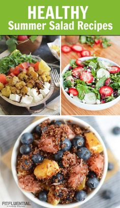 19 healthy-summer-salads - recipe roundup from the FitFluential Ambassadors