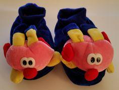 Kinder Hausschuhe Größe 26 Schweinchen Plüsch warm gefüttert mit Bündchen