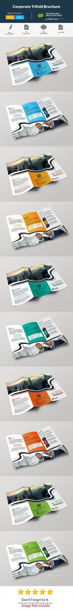 Corporate Trifold Brochure on @codegrape. More Info: https://www.codegrape.com/item/corporate-trifold-brochure/13518