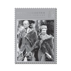 The stamp pictures Queen Elizabeth II and the Duke of Edinburgh at the national Mäori reception given in their honour at Hastings, on the east coast of New Zealand's North Island. Both The Queen and the Duke are wearing ceremonial korowai (cloaks), made from prized kiwi feathers, as they arrive at the reception at Nelson Park. [1986]