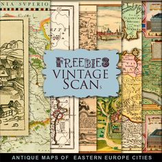 New Freebies Kit of Antique Maps of ?ities in Eastern Europe