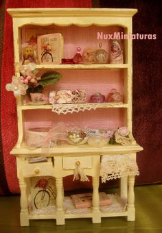 Dollhouse Miniature Pink Beauty Closed by NuxMiniaturas on Etsy, $75.00