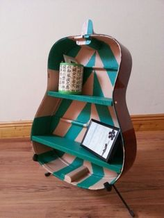 Guitar Shelves - Unique upcycled acoustic guitar shelves  Can be placed on stand or mounted on wal...