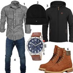 Men's outfit with a checked shirt, jeans and boots – – Boots 2020 Tomboy Fashion, Trendy Fashion, Mens Fashion, Casual Outfits, Men Casual, Men's Outfits, Man Dressing Style, Neue Outfits, Herren Outfit