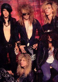 Guns N' Roses. #Slash #AxlRose #IzzyStradlin #StevenAdler #DuffMcKagan