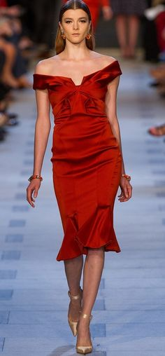 Zac Posen 2013...this is one hot red! :)