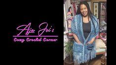 New V-stitch Shawl - YouTube Crochet Cardigan, Crochet Shawl, Knit Crochet, Crochet Tutorials, Crochet Ideas, Crochet Patterns, Crochet Prayer Shawls, Crochet Afghans, V Stitch