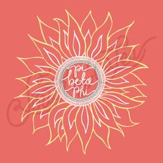 Pi Beta Phi   Pi Phi   Flower Sorority Tee Shirt Design   Sunflower Tee Shirt… …