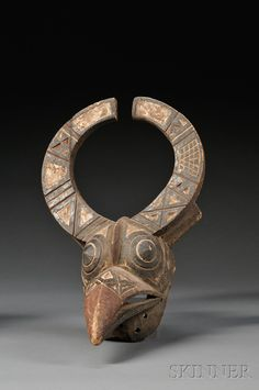 Africa   Antelope mask from the Bobo people   Wood with pigment