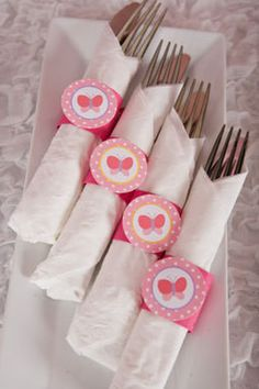 Butterfly Napkin Rings Birthday Party