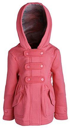 Urban Republic Little Girls Hooded Dressy Jersey Knit Fleece Hoodie Jacket - Hot Pink (Size 3T)