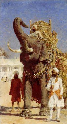 El elefante del Rajah//-//Colección Privada -Edwin Lord Weeks