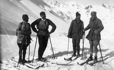 Ernest Hemingway and John Dos Passos skiing in. Ernest Hemingway, Hadley Richardson, Ski Lodge Decor, The Sun Also Rises, Presidential Libraries, Friend Poses, Vintage Ski, Sylvia Plath, Neil Gaiman