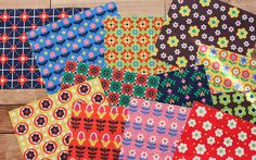 Scandinavian Style Nordic Vivid Big 12 Flower Patch Pattern Panel Fabric by luckyshop0228 on Etsy