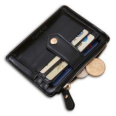 Berühmte Marke Unisex Männer Frauen Aus Echtem Leder Kartenhalter, Multifunktions Reißverschluss Kreditkarten Dollar Wallet Geldbörse