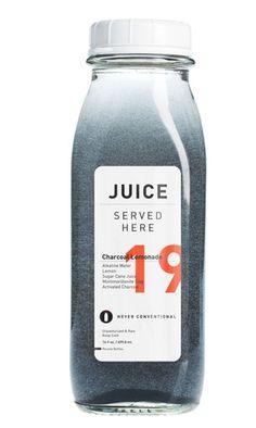 Charcoal Lemonade: Alkaline Water + Raw Sugar Cane Juice + Lemon + Montmorillonite Clay + Activated Charcoal || Liver Detoxifier, Assists Elimination, Hangover Helper