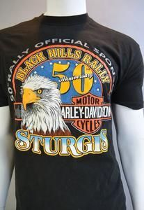 70051bb50 Vintage 90s Motorcycle T-shirt// Official Harley Davidson Sturgis 50th  Anniversary T-shirt// XL HD Motorcycle Shirt (28) (F1)