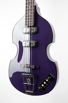 Hofner Violin Bass - Limited Edition Purple Gloss Body