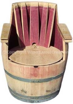 Cool chair made from a wine barrel