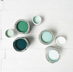 gorgeous color palette inspiration - teal blue turquoise mint chalk white