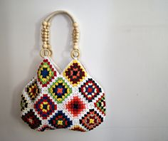 purse handles for crocheted granny square purses | Request a custom order and have something made just for you.